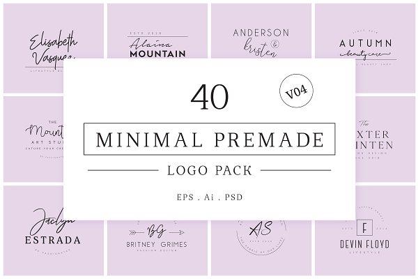 Logo Templates - Minimal Premade Logo Bundle V04