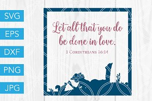 In Love SVG Bible Scripture Verse
