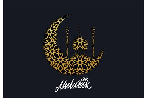 Eid Mubarak vector background.
