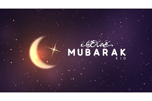 Eid Mubarak vector background