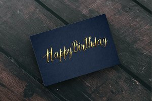 'Happy Birthday' vector lettering