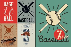 Baseball stencil splash poster.