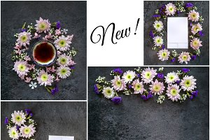 Stock Photos- Florals and Mockups