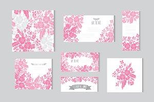 Pink Floral Cards