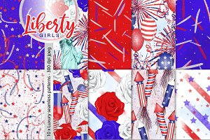 4th July Seamless Pattern Collection