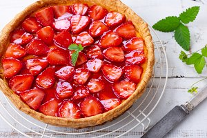 Homemade strawberry tart