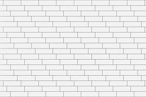 White timber wood slats pattern. seamless background, 3d illustration