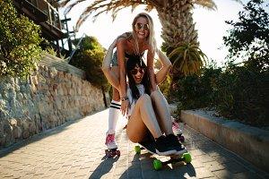 Female friends having fun