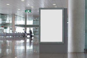 Airport blank billboard
