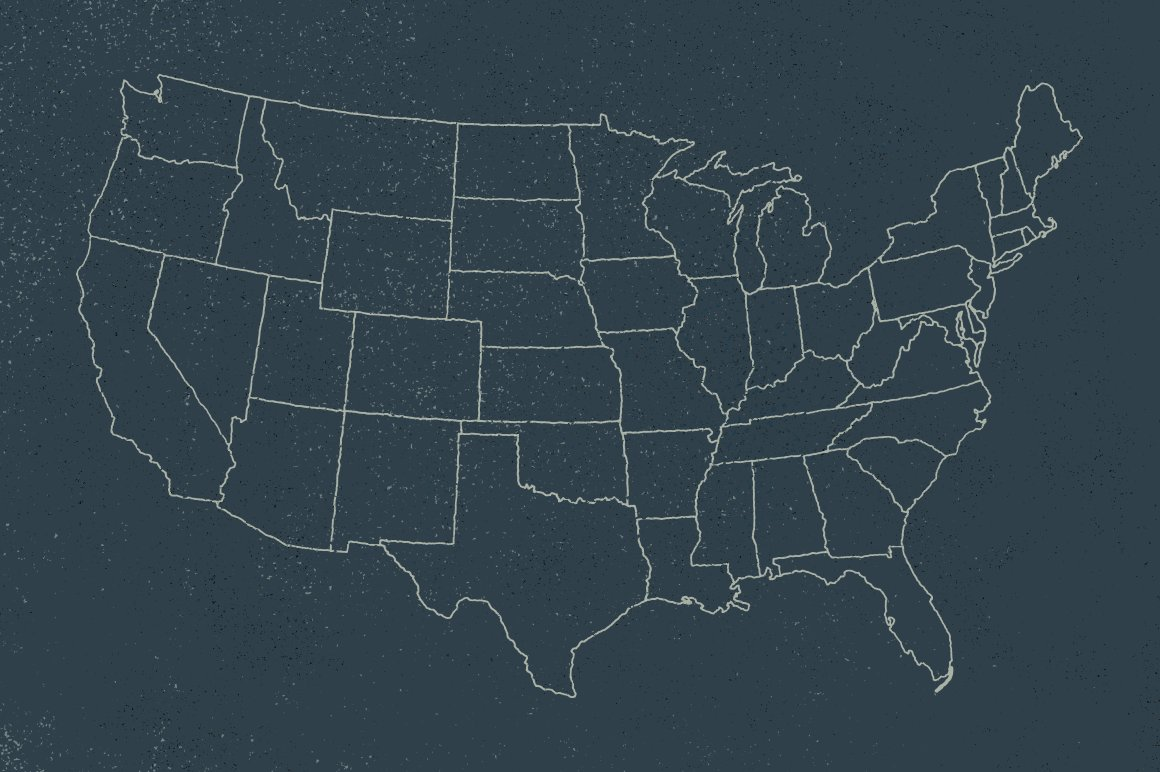 US Map Hand Illustrated Objects Creative Market - Us map eps