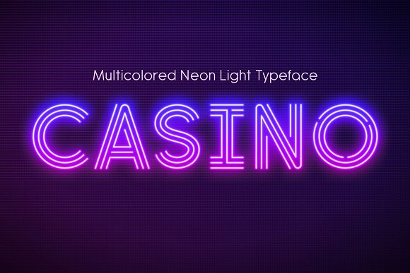 Realistic neon light font | Creative Daddy