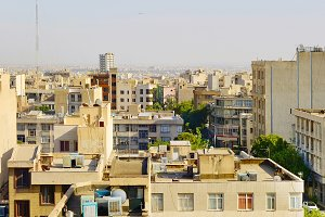 view of Tehran city street, Iran