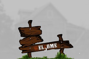 Illustration | OLD WOODEN SIGNS