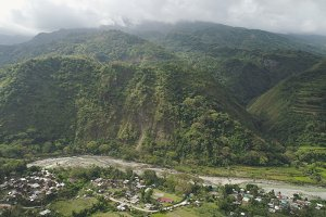 Mountain landscape in Philippines, Luzon.