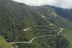 Mountain road on the island of Luzon, Philippines.