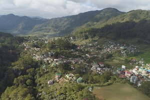 Town in mountain province. Sagada, Philippines.