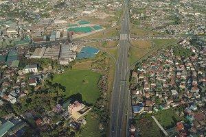 Road junction in Manila, Philippines.