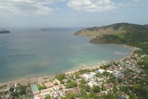 Sea landscape with beach. Philippines, Luzon