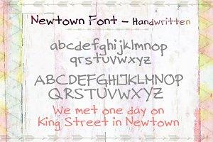 Newtown Handwritten Font