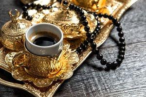 Black arabic coffee rosary
