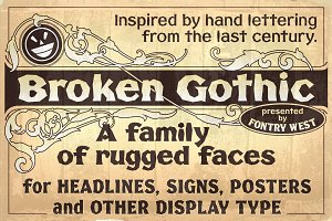 FHA Broken Gothic Family