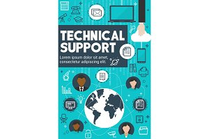 Technical support and customer service banner