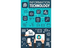 Information technology banner for business concept