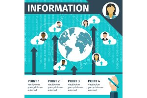 Cloud computing and information technology banner
