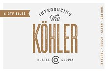 Köhler | Ultra Condensed Family by Jeremy Vessey in Sans Serif Fonts