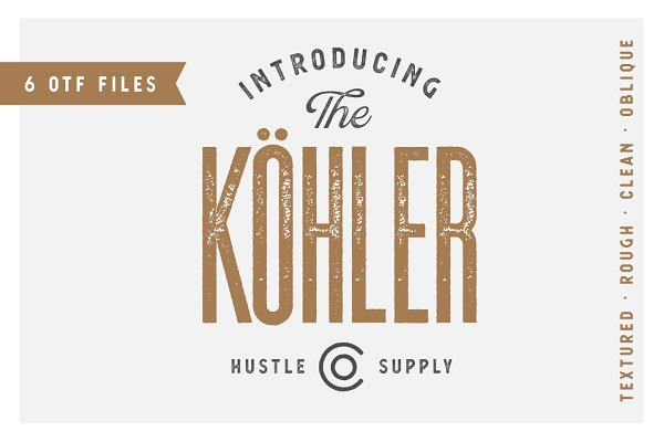 Sans Serif Fonts: Hustle Supply Co. - Köhler | Ultra Condensed Family