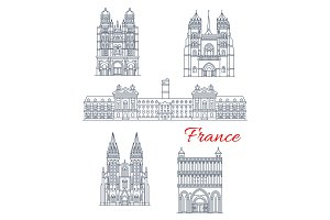 Travel landmark of France architecture icon