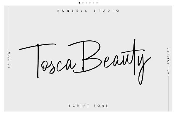 Script Fonts: Runsell Studio - Tosca Beauty Handwritten Font