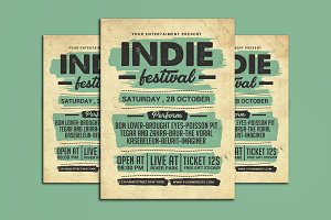 Indie Music Festival Flyer