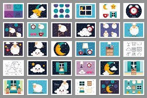 Sleep and Dreams Vector Collection