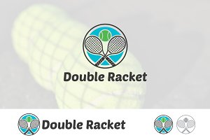 Double Racket Tennis Sport Logo