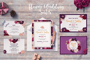 FLOWER WEDDING INVITATION SUITES