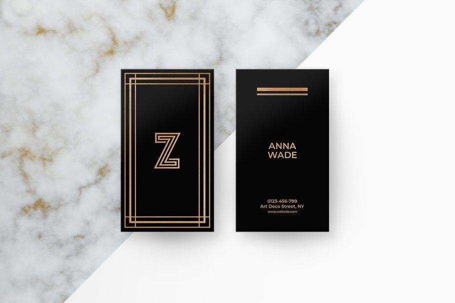6 Art Deco Business Cards - Business Card Templates | Creative ...