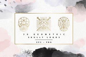 Geometric Skully Logos
