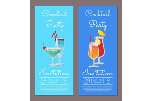 Cocktail Party Invitation Summertime Party August
