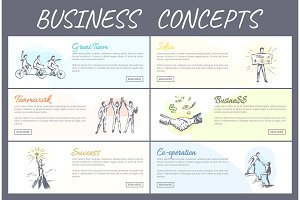 Business Concept Collection Vector Illustration
