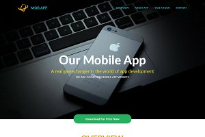 MobApp - App Landing Page Template