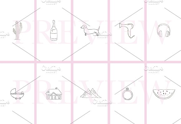 62 Instagram Story Icons Hand Drawn in Instagram Templates - product preview 3