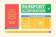 Passport Illustration Pack