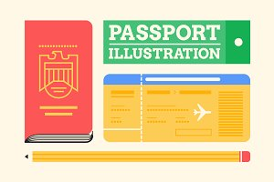 Passport Illustration Pack