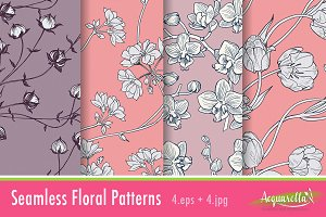 Pink Set - Floral patterns