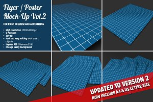 Flyer Mock-Ups Vol.2 - A4 & US size