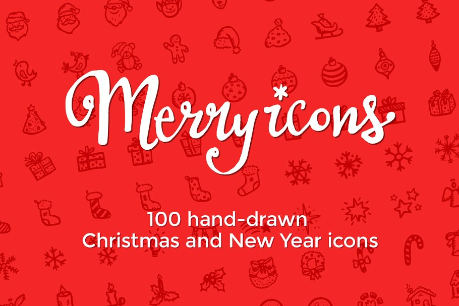 Merry Icons: 100 Christmas icons