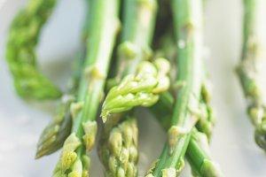 Ready to eat asparagus with salt