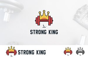 Dumbbell Gym Crown King Logo