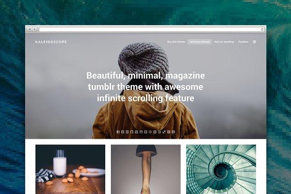 Tumblr Themes: Pixel Revel - Kaleidoscope tumblr theme